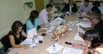 Reunión del alcalde con Apyme Moguer.