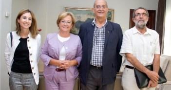 Responsables de Diputación y del Colegio de Arquitectos.