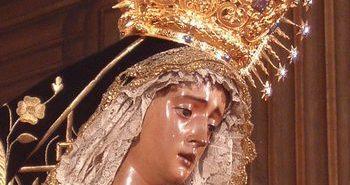 Imagen de la Virgen del Valle en un besamanos.