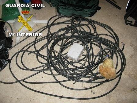 Cables robados en Cartaya.