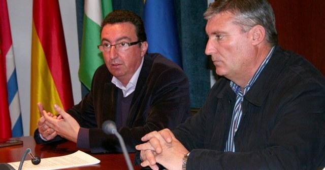 Los alcaldes de Lepe y Cartaya en la reunión.