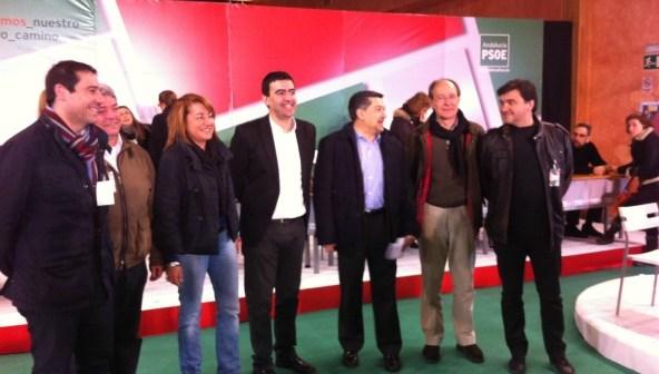 Foto de familia del Comité Provincial que el PSOE ha celebrado en Almonte.