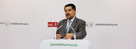 Javier Barrero, en rueda de prensa.