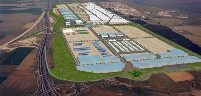 Imagen aérea del Parque Huelva Empresarial.