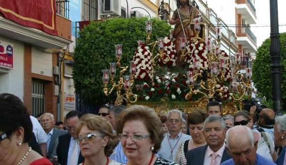 Procesión del patrón en San Juan del Puerto.