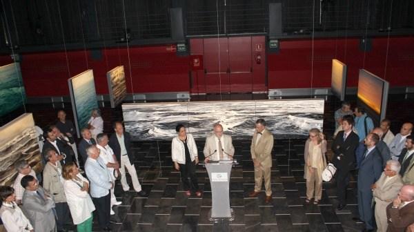 Inauguracion días pasados de la exposición de Santana en Las Cocheras del Puerto.