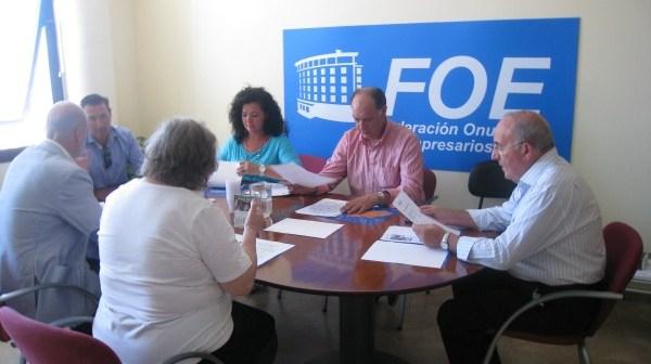 Junta Directiva de la Agrupación de Comerciantes e Industriales de Calles del Centro de Huelva.