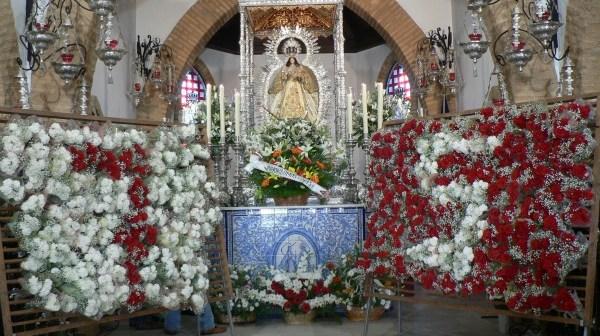 La Virgen de Montemayor, durante el aniversario de su Coronación.