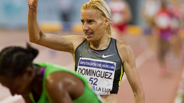 Marta Domínguez tras finalizar la prueba. (Julián Pérez)