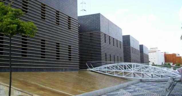 Edificio central de Aguas de Huelva.