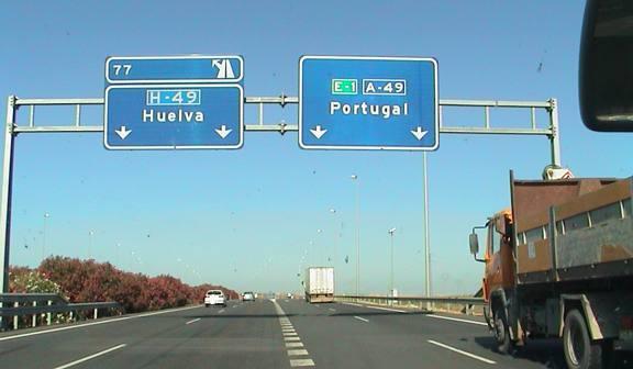 A-49, que une Sevilla y Ayamonte.