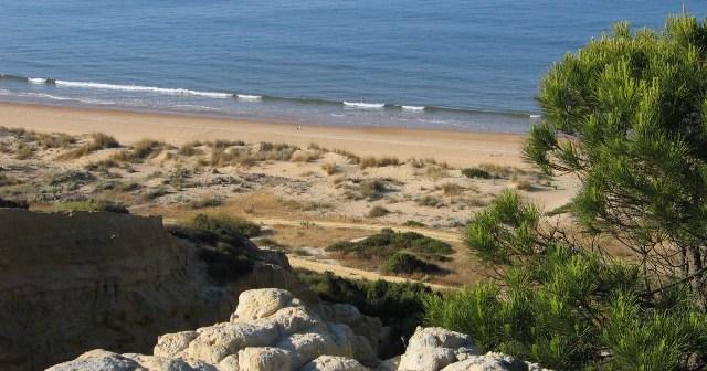 Playa del parador en Mazagón.