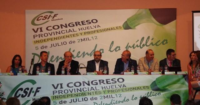 Imagen de archivo de la Presidencia de un anterior congreso del CSIF.