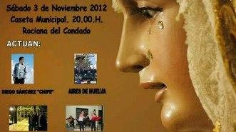 Cartel de la Gala Flamenca en Rociana del Condado.
