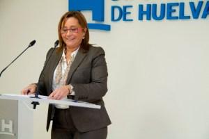 María Luisa Faneca en rueda de prensa.