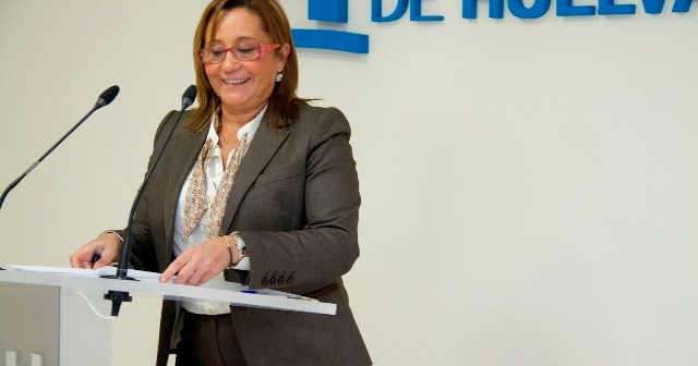 Imagen de archivo de María Luisa Faneca en rueda de prensa.