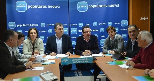 Sanz en el Comité de Dirección del PP de Huelva.