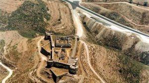 Imagen aérea del Castillo de Sanlúcar de Guadiana.