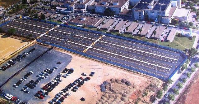 Vista aérea del nuevo aparcamiento.