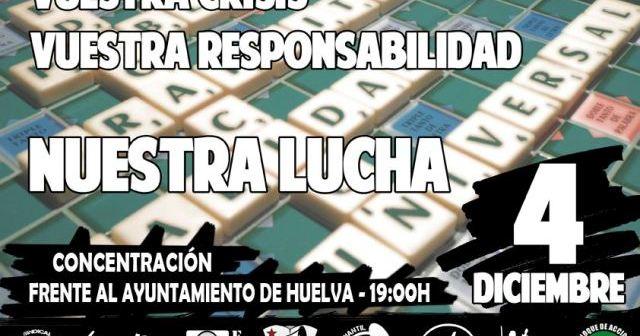 Cartel de la concentración del 4-D en Huelva.
