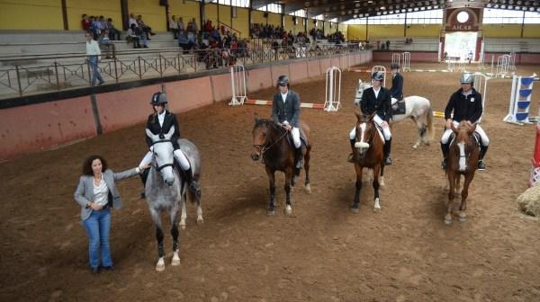 Entrega de premios del Concurso de Saltos de Caballo celebrado en El Rocío.