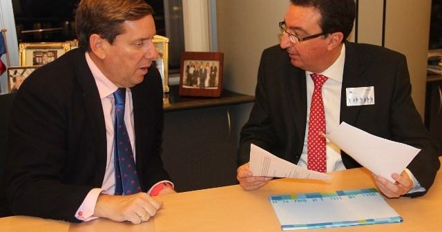 Gabriel Mato y Manuel Andrés González en la reunión mantenida en Bruselas.