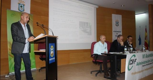 Juan Manuel Quilón se dirige a los participantes en el congreso del CSIF en Administración Local.