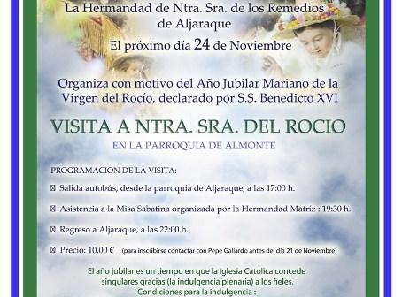 Cartel de la visita a Almonte.