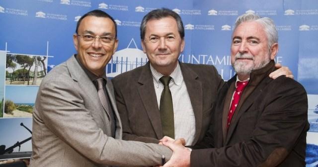 Los firmantes del acuerdo.