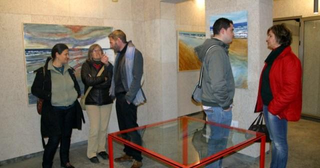 Inauguración de la exposición en San Juan del Puerto.