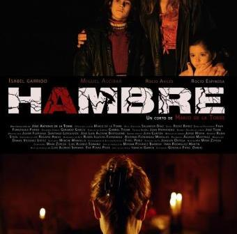 Cartel anunciador de Hambre.