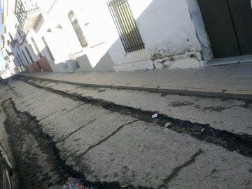 Calle de Trigueros donde se van a acometer obras.