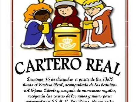 El cartero real de Paterna recoge este domingo las cartas de los niños.