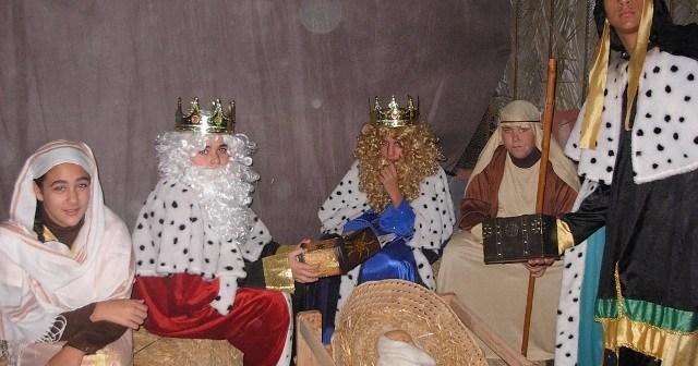 Los Reyes Magos en el Belén Viviente.