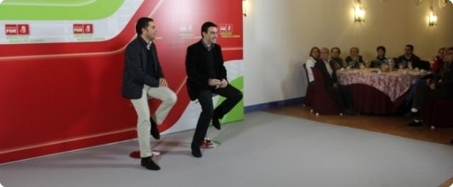 Acto del PSOE en Moguer con Mario Jiménez como protagonista.