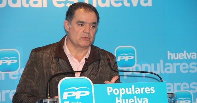 Juan Carlos Lagares, en rueda de prensa en la sede del PP.