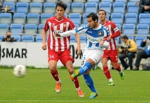 Cifu, en el partido ante el Girona. (Espínola)