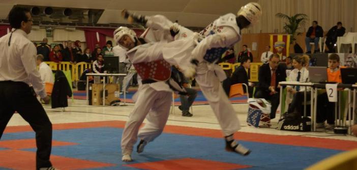 David Cárdenas en el Campeonato de España de taekwondo.