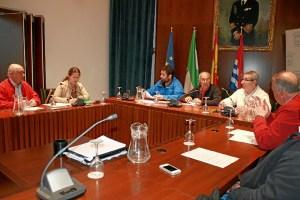 Preparación de la romería en el Ayuntamiento de Cartaya.