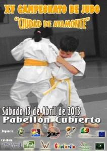 Cartel del Torneo de Judo en Ayamonte.