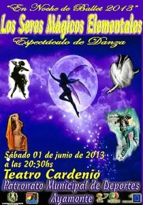 Cartel del espectáculo de danza.