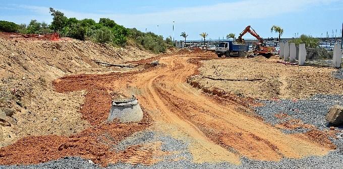 Obras para unir Ciparsa con el puerto deportivo.