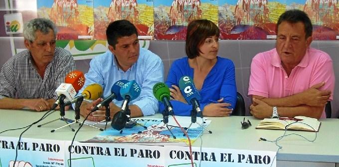 Rueda de prensa en la que se ha presentado la movilización en la Cuenca Minera.