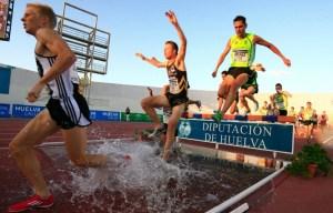 Prueba de 3.000 obstáculos del Meeting Iberoamericano de atletismo.