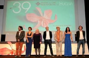 Los miembros del jurado de la 39 edición del Festival de Cine.