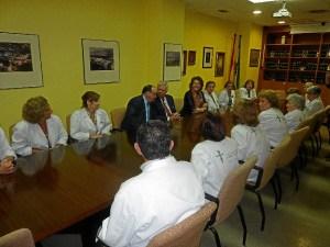 Encuentro en el hospital Juan Ramón Jiménez.