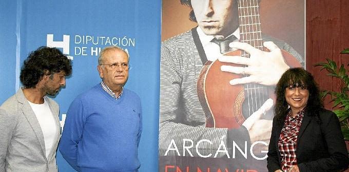 Presentación de la gira de Arcángel por la provincia de Huelva.