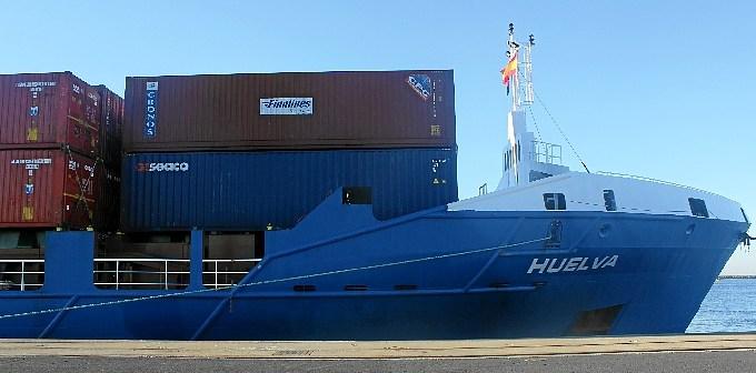 El barco tiene el nombre de Huelva.
