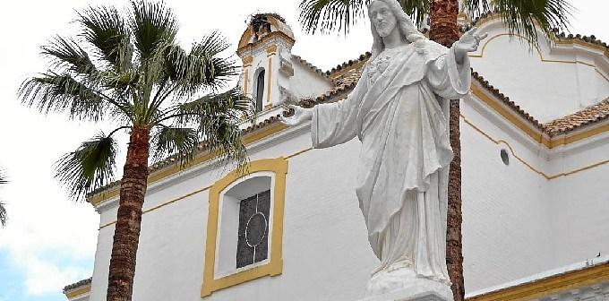 La imagen en la plaza palmerina.