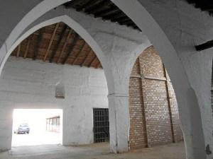 Vista interior de los arcos.